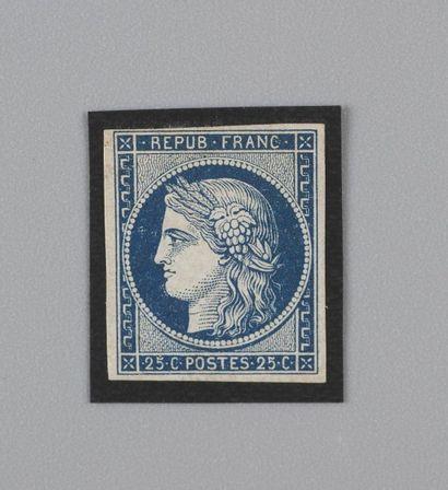 France, n°4a 25c Bleu foncé Cérès - Neuf...