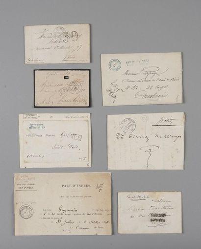 France - Lot de sept lettres Guerre de 1870...