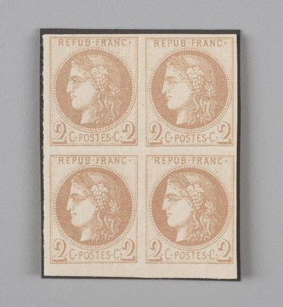 France, n° 40A 2c Chocolat clair Report1...