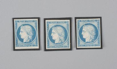 Colonies Générales n° 12 20c Bleu - Trois...