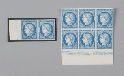 Colonies Générales n°23 25c Bleu - Un bloc...