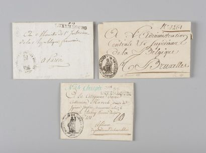 Luxembourg - Trois marques postales dont...