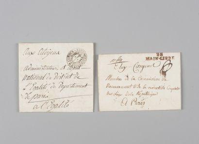 France - Lot de six marques postales dont...