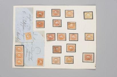 France, n° 48 40c Bordeaux - Lot de timbres...