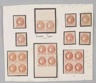 France, n°40 2c Bordeaux - Lot de timbres...