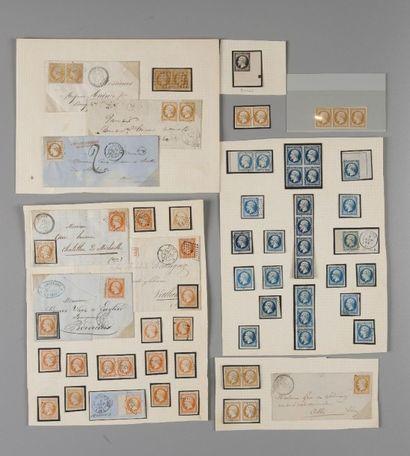 France, Empire non dentelés. - Lot de timbres...