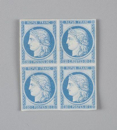 France, n° 37 20C Bleu Siège de Paris - Bloc...