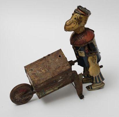 JOUET POPEYE Rare jouet mécanique à ressorts...
