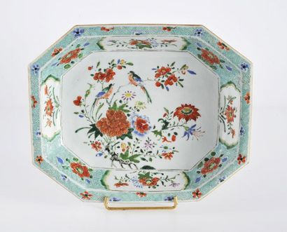 Jatte creuse en porcelaine à décor floral...