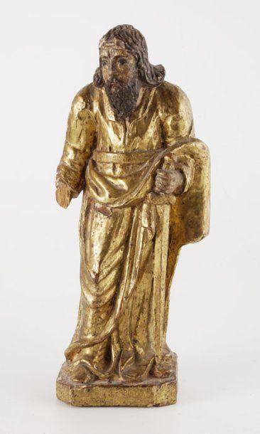 Saint Paul Statuette en bois doré. XVIIe...