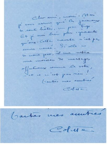 COLETTE (Sidonie Gabrielle Colette, dite) [Saint-Sauveur-en-Puisaye, 1873 - Paris, 1954], romancière