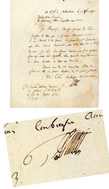 DESSAIX Joseph-Marie [Thonon, 1764 - Marclaz, 1834], général français. Lettre signée,...