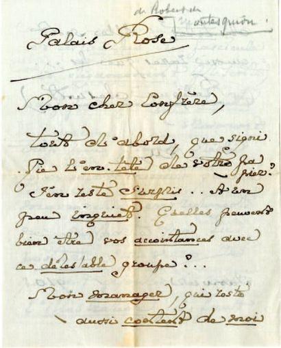 MONTESQUIOU FEZENSAC Robert de [Fezensac, 1855 - Menton, 1921], poète français.