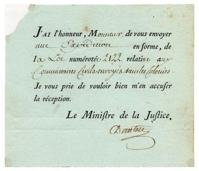 DANTON Georges Jacques [Arcis-sur-Aube, 1759 - Paris, 1794], homme politique français....