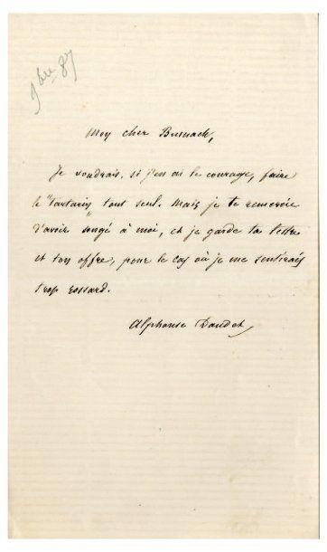 DAUDET Alphonse [Nîmes, 1840 - Paris, 1897], romancier et auteur dramatique français.