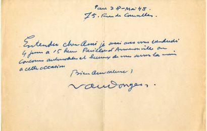 VAN DONGEN Kees (Cornelis Theodorus Marie, dit) [Delfthaven, 1877 - Monte-Carlo, 1968]