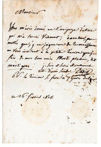 DAVID Jacques Louis [Paris, 1748 - Bruxelles, 1825], le grand peintre et dessinateur...