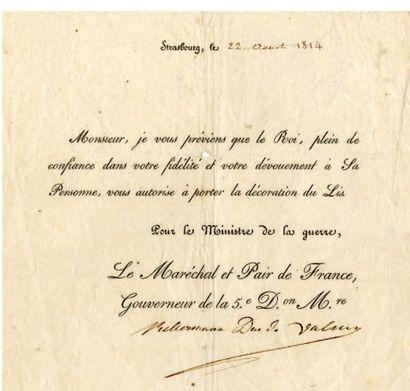 KELLERMANN François Christophe, duc de Valmy [Strasbourg, 1735 - Paris, 1820], maréchal de France.
