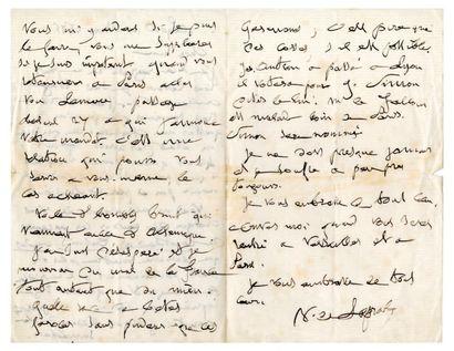 LAPRADE Victor Richard de [Montbrison, Loire, 1812 - Lyon, 1883], poète français....