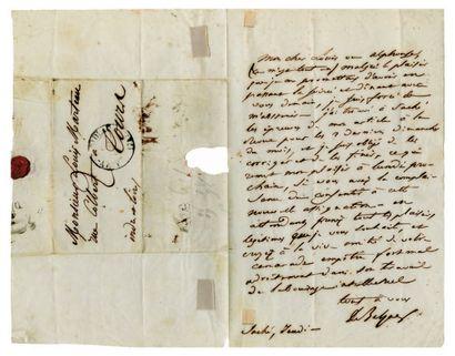 BALZAC Honoré de [Tours, 1799 - Paris, 1850], écrivain français. Lettre autographe...