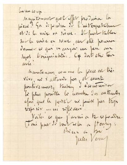 VERNE Jules [Nantes, 1828 - Amiens, 1905], romancier français.