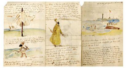 VOYAGE - LETTRE ILLUSTRÉE. BEAUVOIR Roger de (Édouard Roger de Bully, dit) [Paris, 1809 - id., 1866]