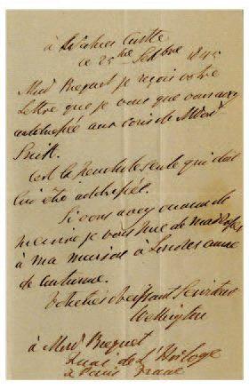 WELLINGTON Arthur Wellesley, duc de [Dublin, 1769 - Walmer Castle, 1852]
