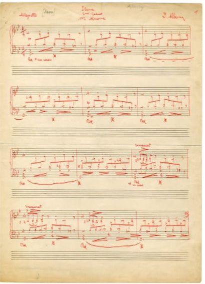 ALBÉNIZ Isaac [Camprodon, Catalogne, 1860 - Cambo-les-Bains, 1909], pianiste et compositeur espagnol