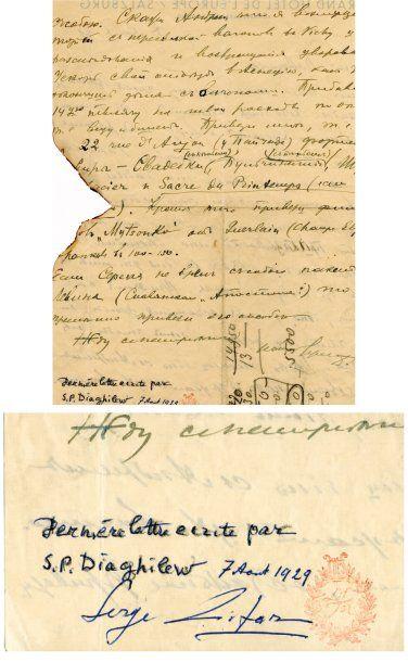 DIAGHILEV Serge de [Selistchev, Russie, 1872 - Venise, 1929], critique d'art et imprésario russe.