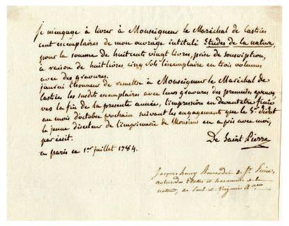 BERNARDIN DE SAINT-PIERRE Jacques-Henri [Le Havre, 1737 - Éragny-sur-Oise, 1814], écrivain français.