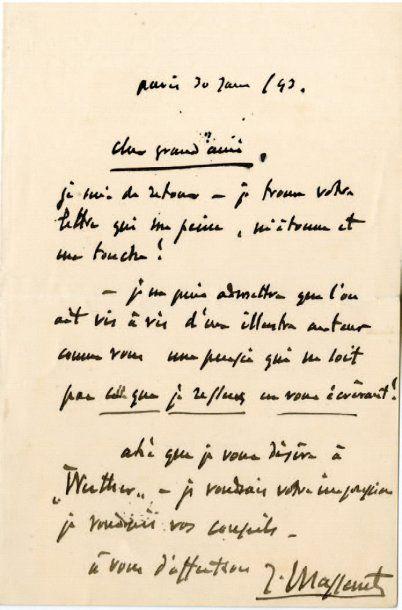 MASSENET Jules Émile Frédéric [Montaud, 1842 - Paris, 1912], compositeur français.