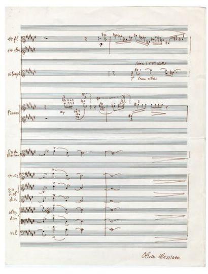 MESSIAEN Olivier [Avignon, 1908 - Paris, 1992], compositeur français.