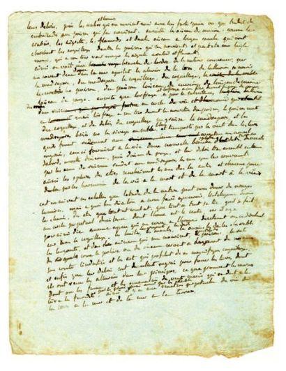 BERNARDIN DE SAINT-PIERRE Jacques- Henri, Manuscrit autographe. 1 page 1/4 in-4°....