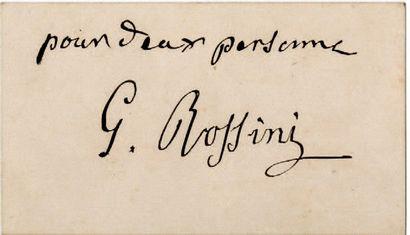 ROSSINI Gioacchino [Pesaro, 1792 - Paris, 1868], compositeur italien.