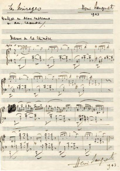 SAUGUET Henri (Henri Poupart, dit) [Bordeaux, 1901 - Paris, 1989], compositeur français.