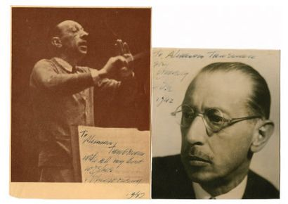 STRAVINSKY Igor Féodorovitch [Oranienbaum, 1882 - New York, 1971]