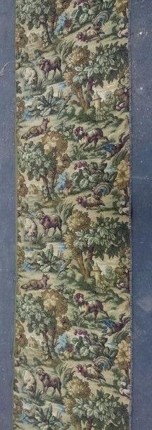 Bande de tapisserie à motifs de chien, mouton...