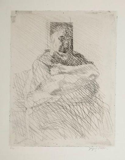 Jacques VILLON (1875-1963)  Maternité  Eau...
