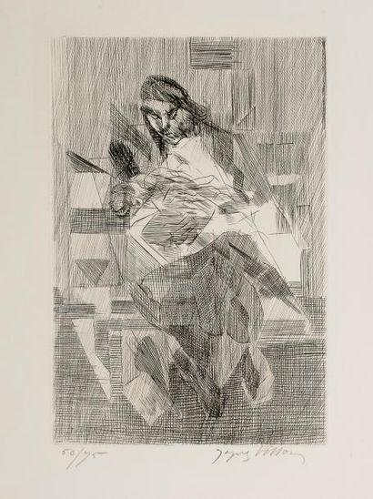 Jacques VILLON (1875-1963)  Personnage, bras...