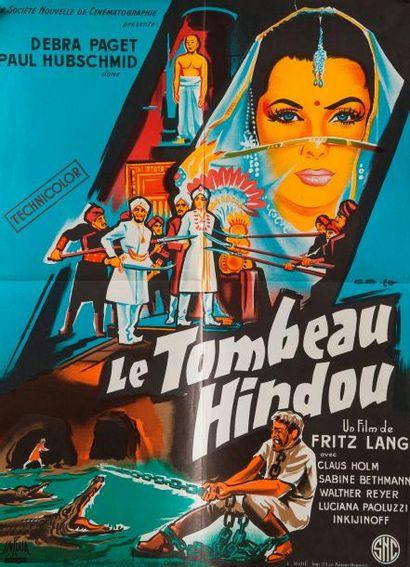 Le tombeau Hindou de Fritz Lang, affichette,...