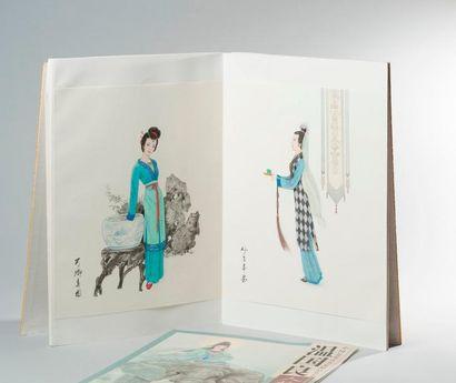 Un album de cartes postales.  On y joint...