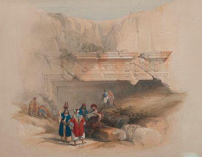 Vue de Jérusalem  Estampe rehaussée  25 x...