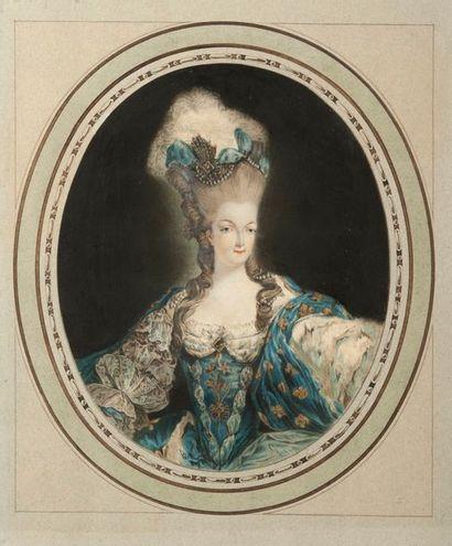JEAN-FRANÇOIS JANINET  (1752-1814).  Marie-Antoinette...