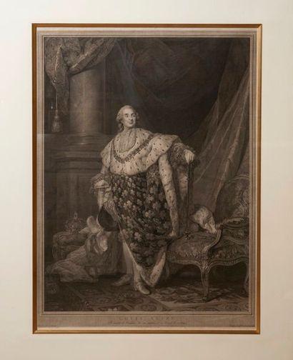 Louis XVI. Grande gravure représentant le...