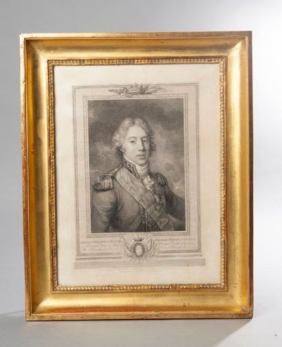Gravure représentant Charles Philippe de...