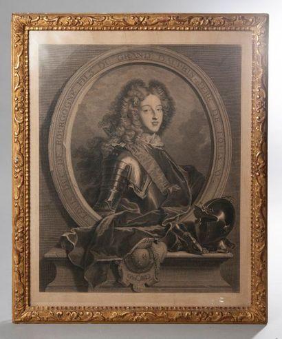 Gravure représentant Louis, duc de Bourgogne...