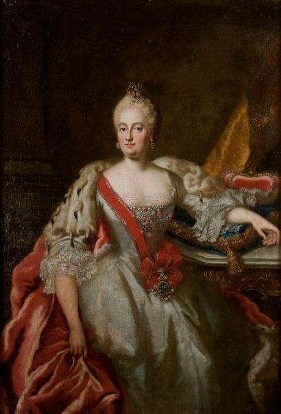 ECOLE ALLEMANDE, CIRCA 1750 Portrait de Marie-Anne...