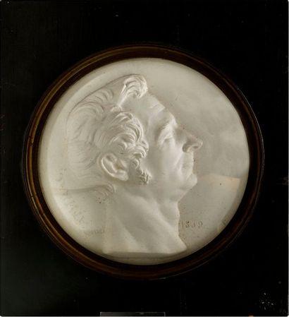 AMIRAL DE RIGNY.  Portrait posthume en plâtre...