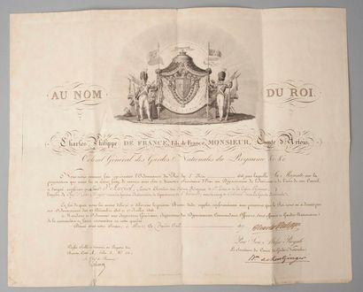 Brevet donné par Charles Philippe de France,...