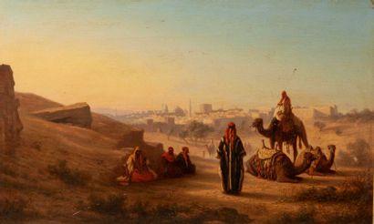 THEODORE FRERE (1814-1888)  Vue de Jérusalem...